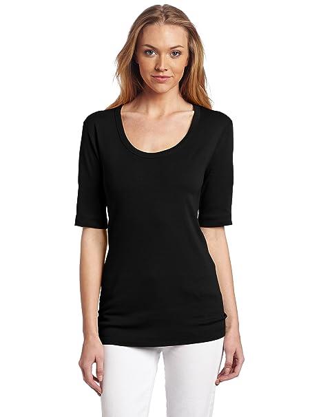 538ad5fb6 Three Dots Red Women's Half-Sleeve T-Shirt