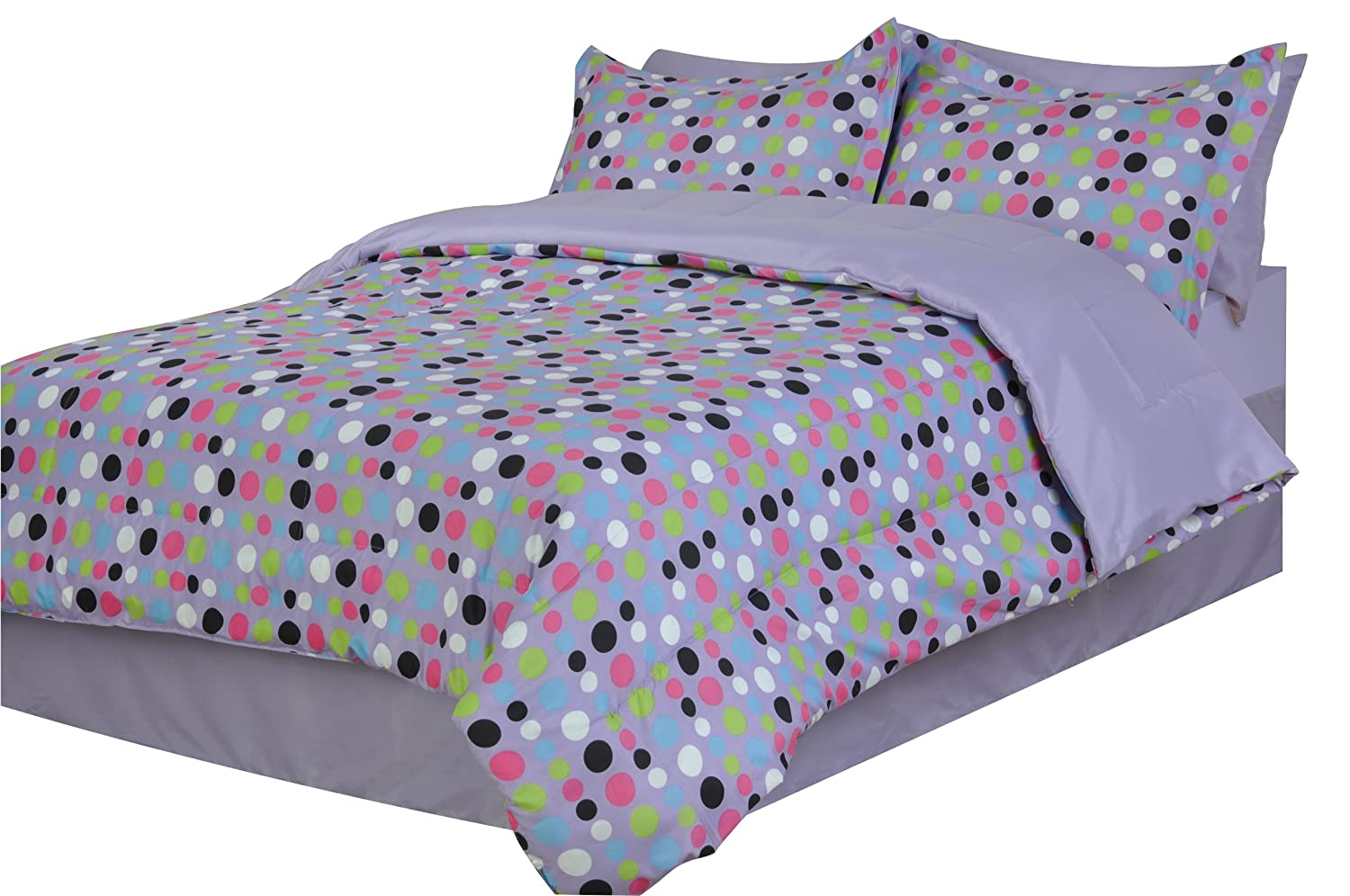 Divatex Dots Microfiber Twin X-Large Bed In the Bag Divatex Home Fashions 332694TXL