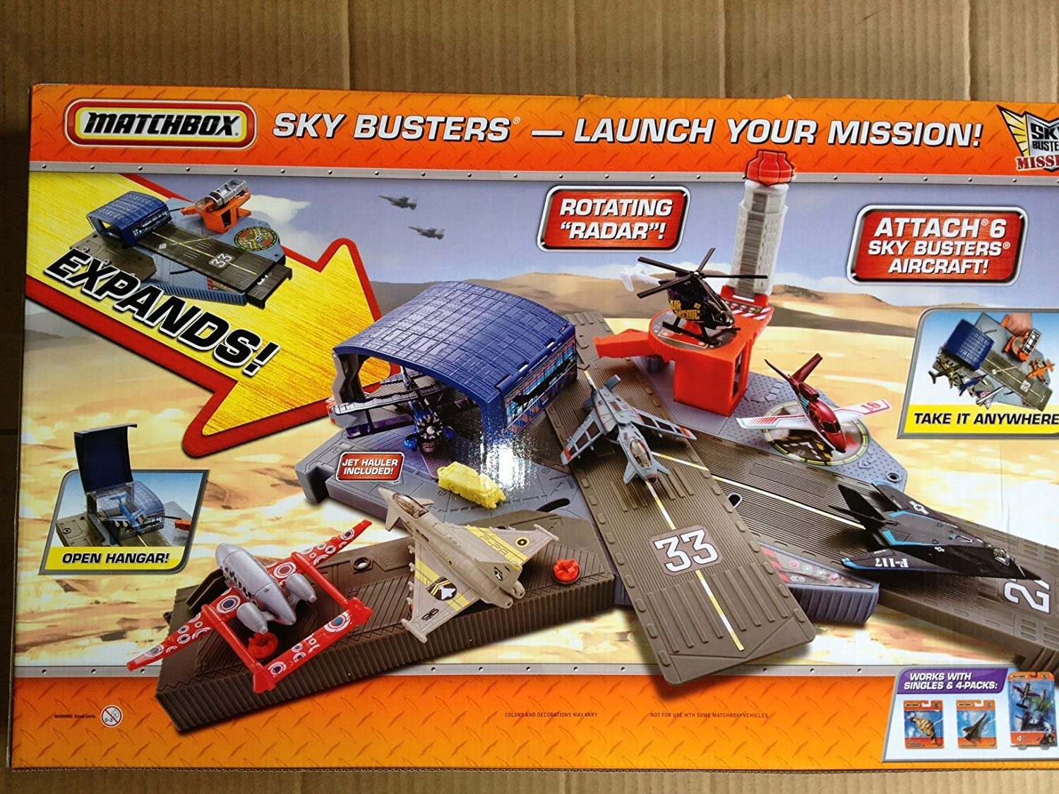 Matchbox Sky Busters Missions Mission Headquarters Playset with 10 Aircraft Sonstige