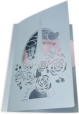 /especial 2/capas 3d Pop Up Tarjeta de felicitaci/ón Autor Amor en Par/ís/