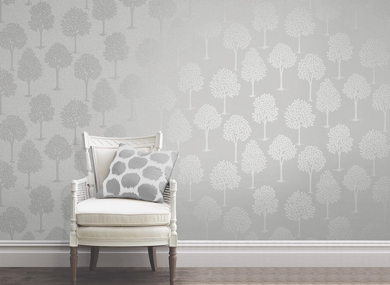 color plateado Papel pintado para /árbol de cuarzo Fine D/écor FD42200