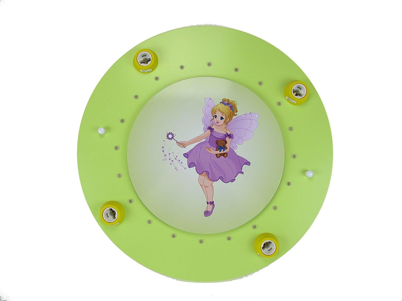 Elobra Kinderleuchte Kinderlampe - LED Fee mit Teddy grün 4-flammig - Deckenleuchte - Restposten Lagerräumung