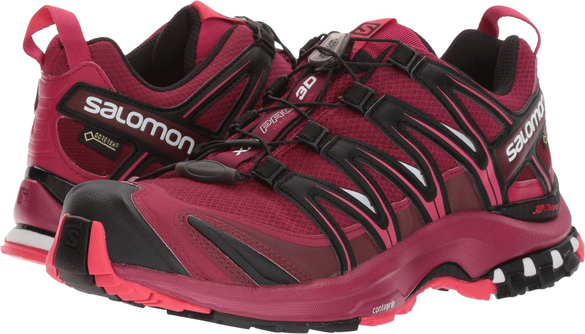 Salomon Women's XA PRO 3D GTX Beet Red/Sangria/Black Athletic Shoe