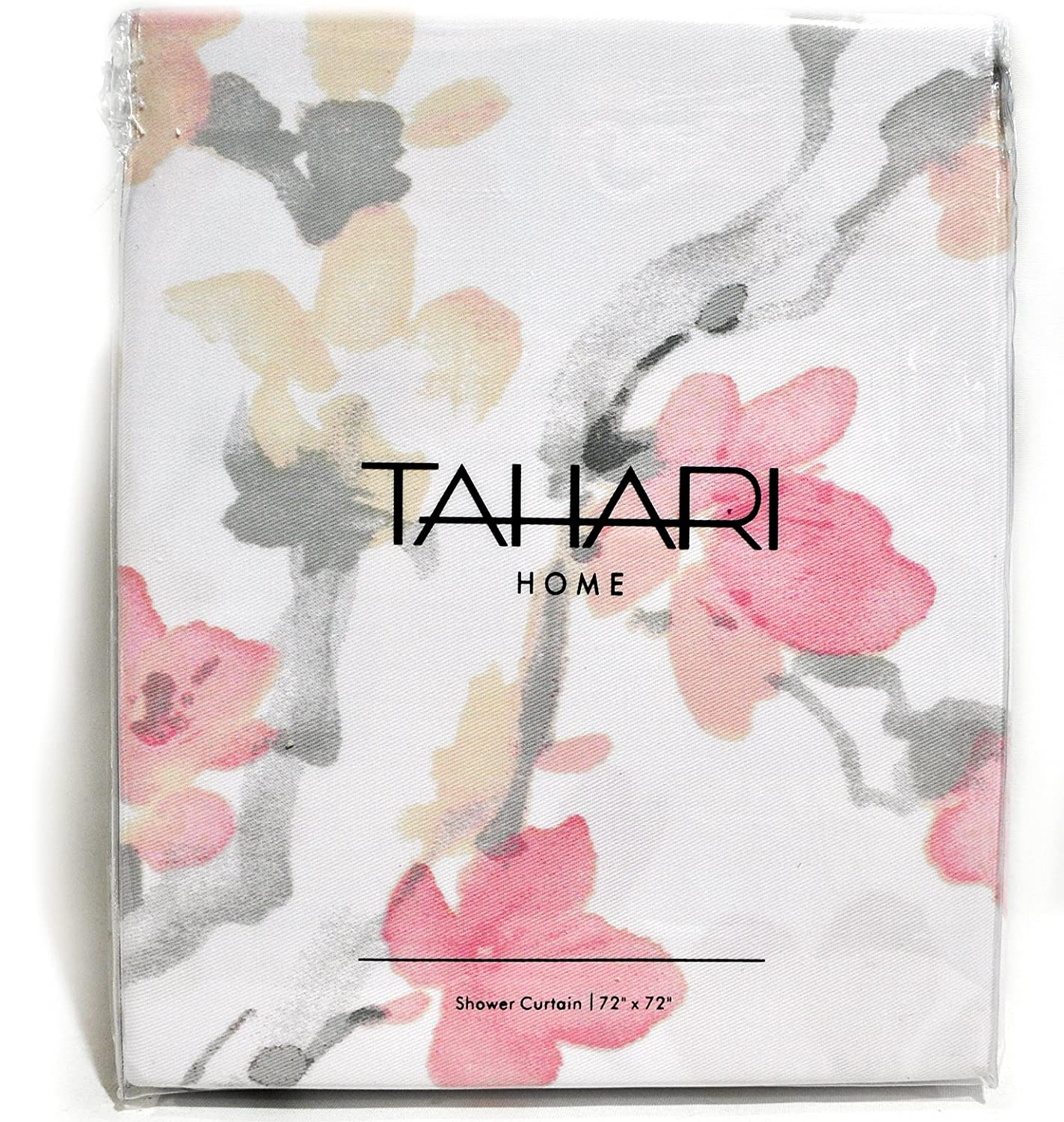 Amazon.com: Tahari Home Printemps Salmon, Pink And Grey Floral Branch  Fabric Shower Curtain: Home U0026 Kitchen