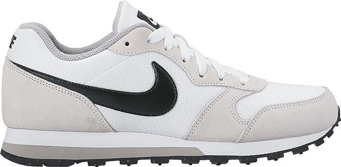 Nike MD Runner 2 Sneakers Damen Weiß mit schwarzen Streifen