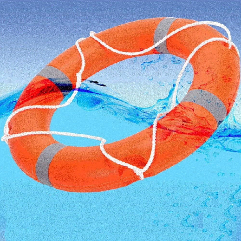 28 cm de diámetro profesional adulto espuma flotador naranja Lifebouy con bandas de color blanco libre hinchable: Amazon.es: Deportes y aire libre