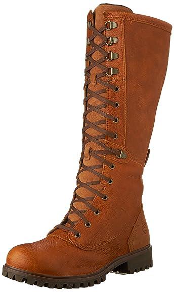 Timberland Women's Wheelwright Lace Boot, Burnt Orange Full Grain,