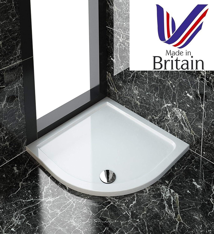 ELEGANT 900x900 mm One-Door-Opening Shower Enclosure 6mm Safety Glass Quadrant Sliding Shower Door