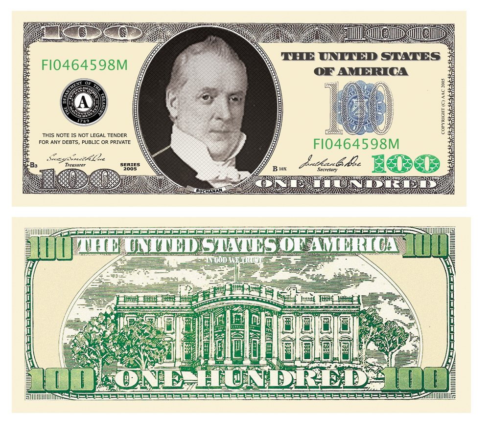 American Art Classics Casino Night Party Package - 100 Each of $100.00, $500.00, $1000.00, $10,000.00, $50,000.00 and $100,000.00 Bills.