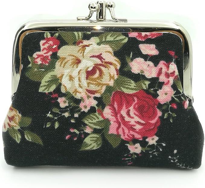Amazon.com: Monedero con diseño de flores, talla única: Clothing