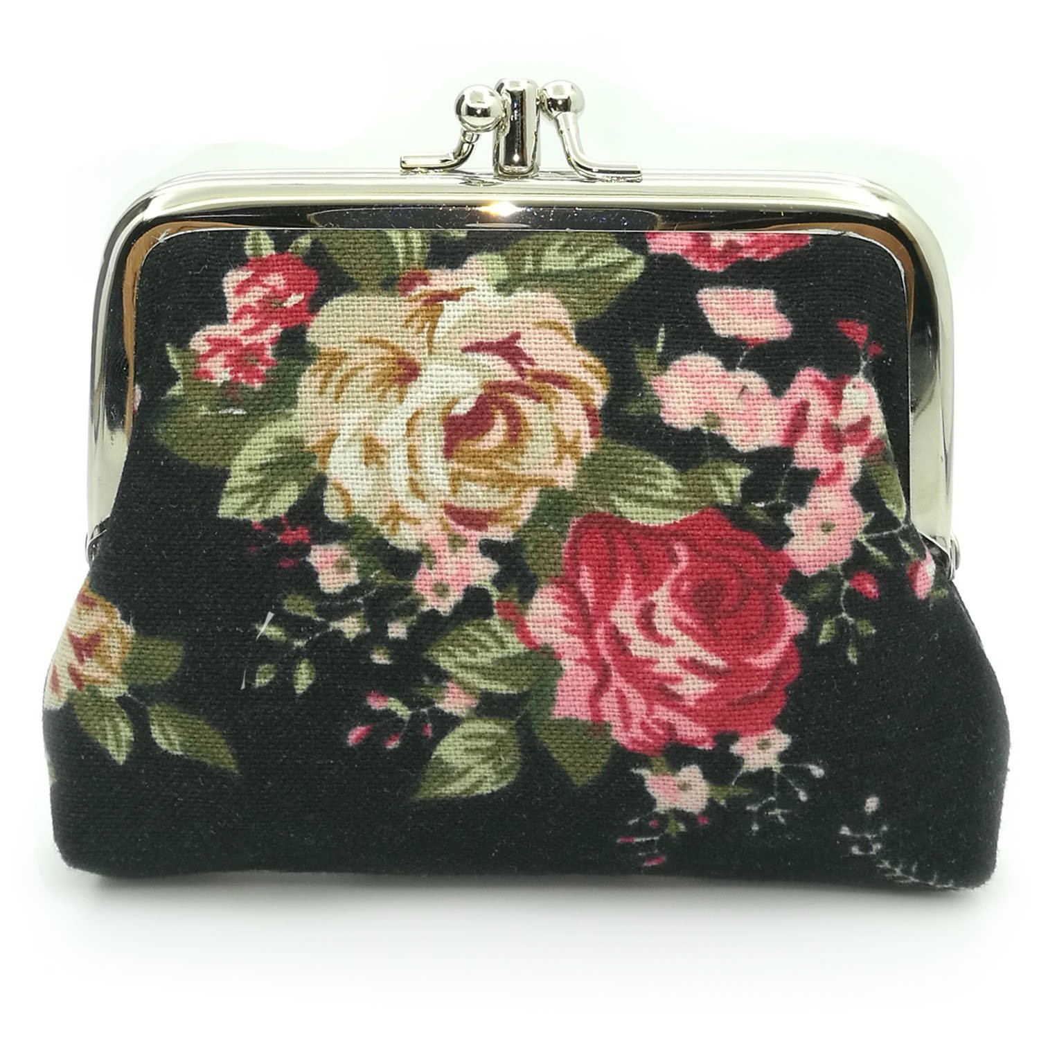 Cute Floral Buckle Coin Purses Vintage Pouch