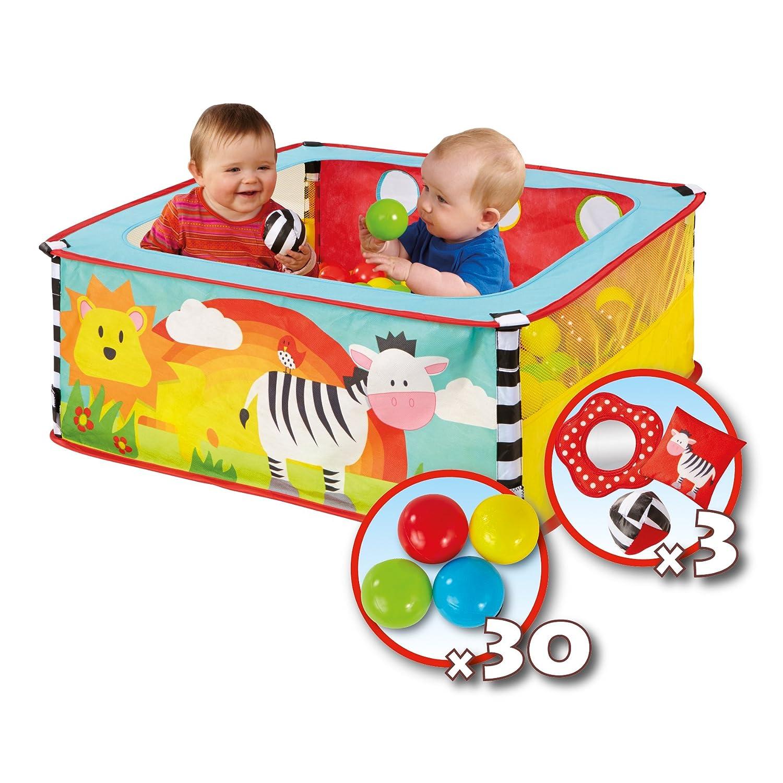 Worlds Apart 168ZBA Zebra Square Animal Toddler Sensory Ball Pit
