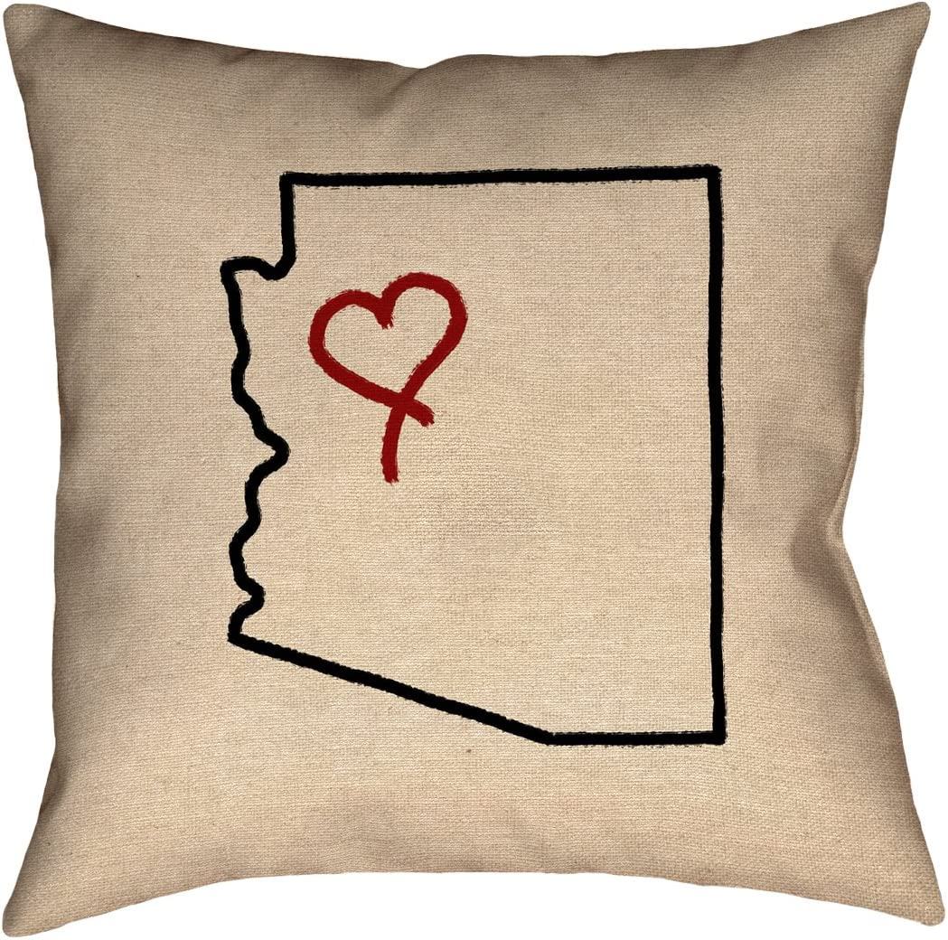 ArtVerse Katelyn Smith 14 x 14 Poly Twill Double Sided Print with Concealed Zipper /& Insert Virginia Love Pillow