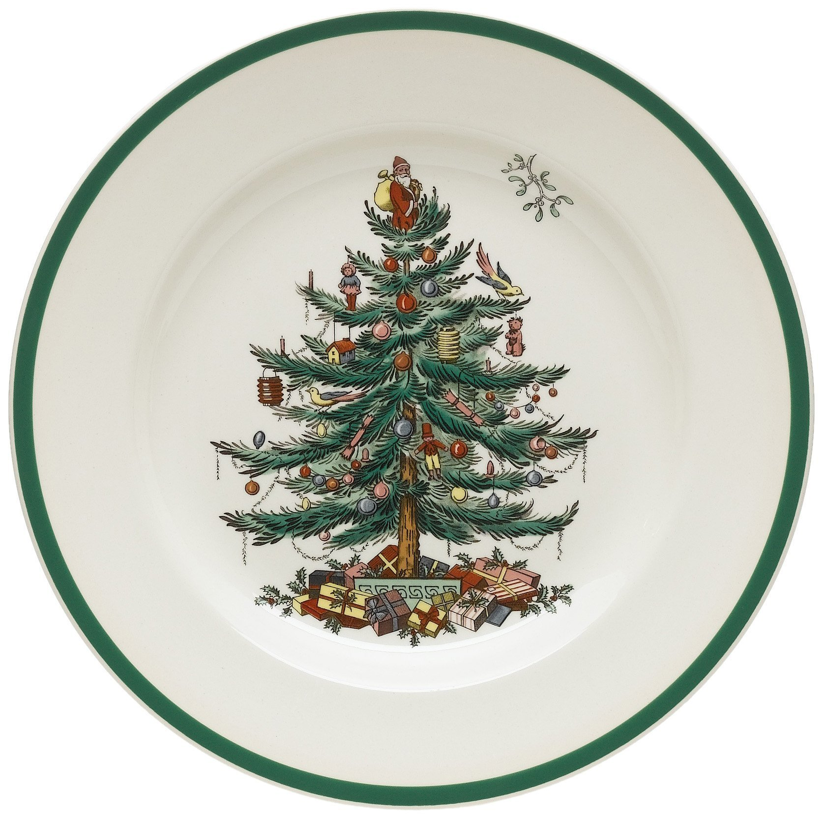 Spode Christmas Tree 10-1/2-Inch Dinner Plates, Set of 4 by Spode