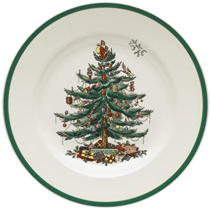 Spode Christmas Tree 10-1/2-Inch Dinner Plates, Set of 4 - Amazon.com: Spode Christmas Tree 10-1/2-Inch Dinner Plates, Set Of 4