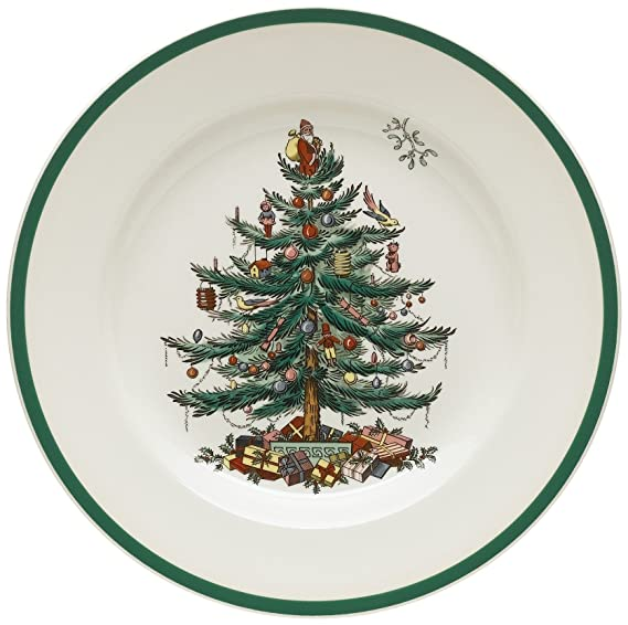 Spode Christmas Tree 10-1/2-Inch Dinner Plates, Set of 4 best christmas plate sets