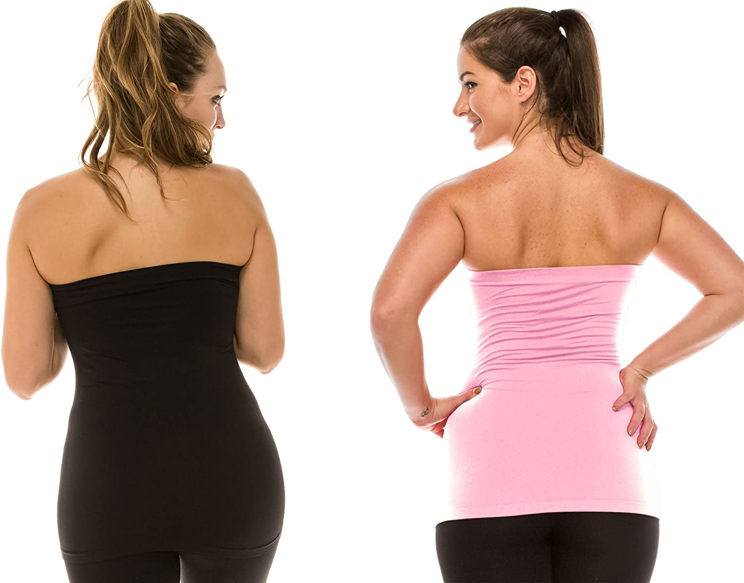 -Made in USA Kurve Plus Size The Excellent Stretch Long Bandeau Tube Top L//XL, XL//XXL