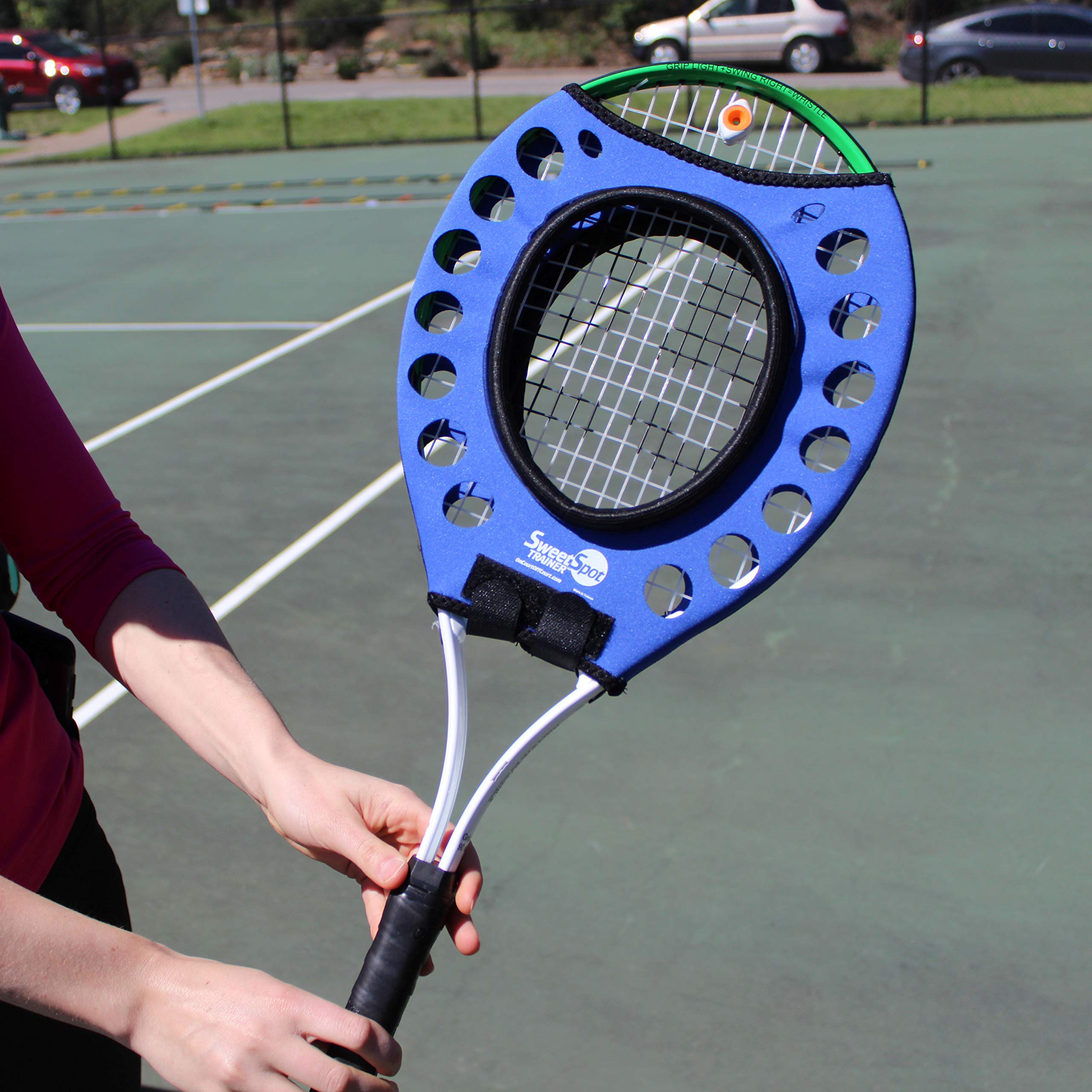 Oncourt Offcourt Sweet Spot Trainer - Learn to Hit The Center of Your Racquet/Tennis Training Aid