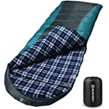 Bessport Sleeping Bag Winter | 32℉/0℃ Extreme 3-4 Season Warm & Cool Weather Adult Sleeping Bags Large | Lightweight…