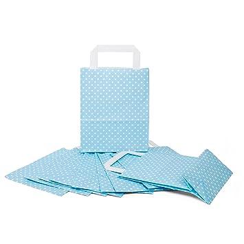 10 Pequeño Color Azul Claro Blanco Azul gepunktete Papel ...