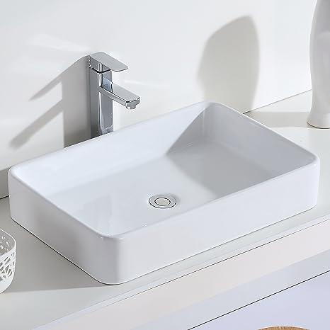ERIDANUS Serie Nevada, Lavabo di Ceramica Bianco Lusso Lavandino ...