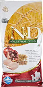 Farmina Natural & Delicious Ancestral Grain Chicken & Pomegranate Medium & Maxi Dog Food, 26.5 lb.