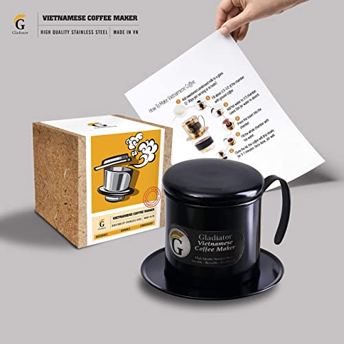 Vietnamese Coffee Maker Filter French Press Style Coffee Filters Pour Over Coffee Dripper Portable Coffee Makers Single Serve Coffee Maker Reusable Coffee Press Black