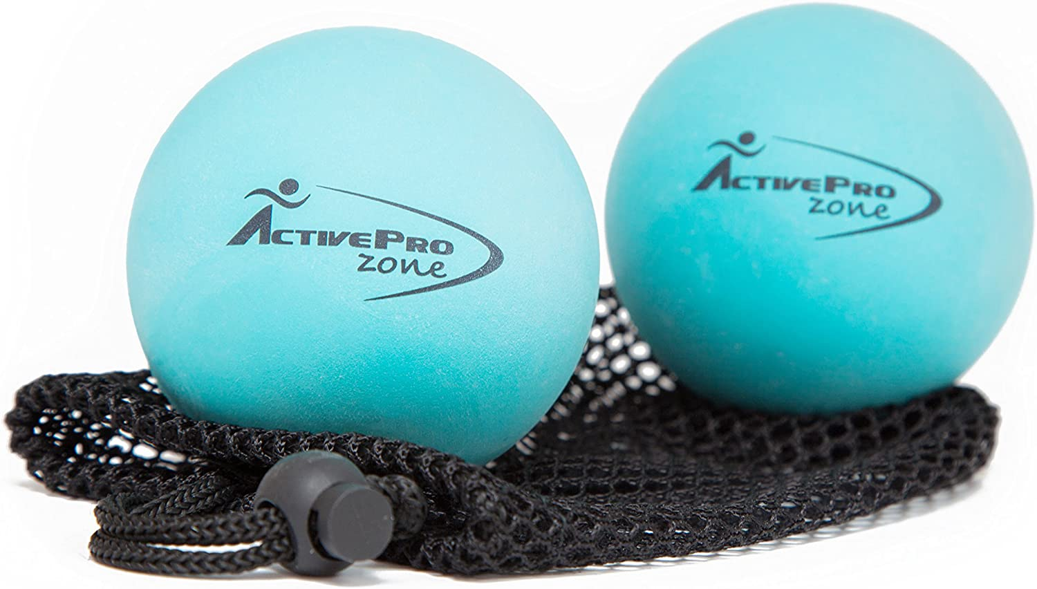 B01DID2TN6 ActiveProZone Therapy Massage Ball - Instant Muscle Pain Relief. Proven Effective for Myofascial Release, Deep Tissue Pressure, Yoga & Trigger Point Treatments. Set - 2 Extra Firm Balls W/Mesh Bag. 81IU3A6MAOL