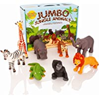 Learning Minds Conjunto de 8 Figuras Jumbo Jungle