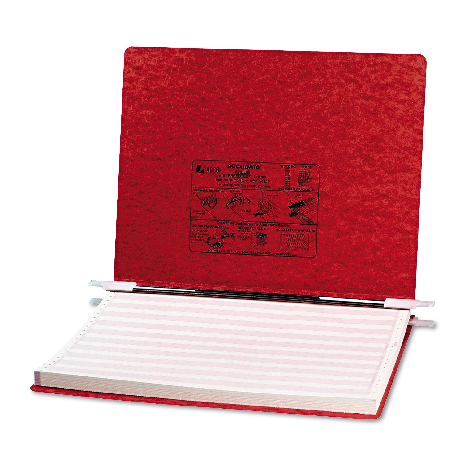 Acco 54079 Presstex Hanging Data Binder, 14-7/8 x 11, 6'' Cap, Bright Red, 1/EA