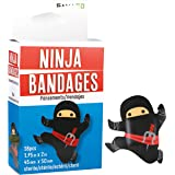 GAMAGO Ninja Bandages for Kids & Kidults - Set of 18 Individually Wrapped Self Adhesive Bandages - Sterile, Latex-Free…