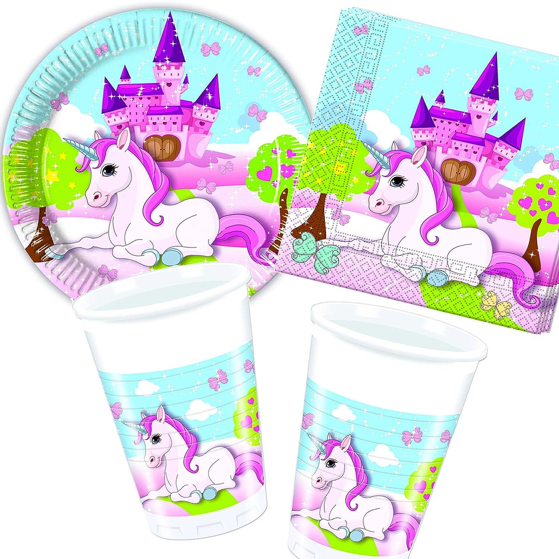 12 Teiliges Einladungs Set Unicorn Für Kindergeburtstag Oder Mottoparty:  Amazon.de: Spielzeug