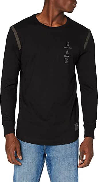 G-STAR RAW Tape Logo Lash Camiseta para Hombre
