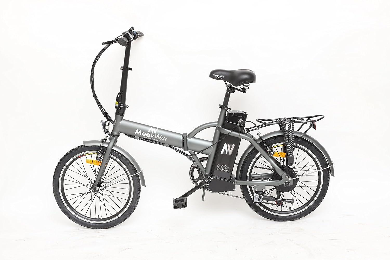 moovway plegable Urban - Bicicleta eléctrica City gris MATT: Amazon.es: Deportes y aire libre