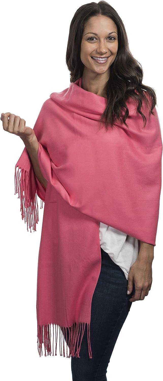 Womens Winter Shawl purpule Cashmere /& Class Large Soft Cashmere Scarf Wrap Gift Box