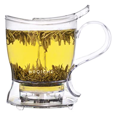 GROSCHE Aberdeen Tea Steeper, Teapot and Tea Infuser, 17.7 oz. 525 ml with Removable Filter, BPA-Free & Food-safe Tritan