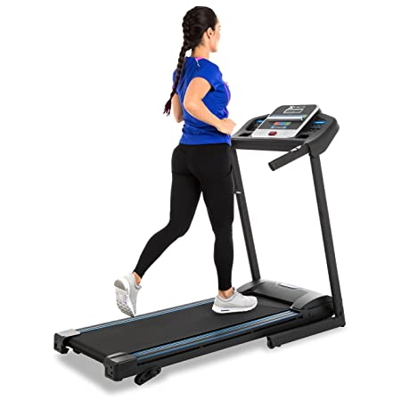 side facing xterra fitness tr150 folding treadmill