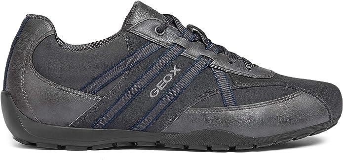 Geox, scarpe sportive Ravex, in similpelle, dotate di stringhe, da uomo, codice articolo U743FB 05411
