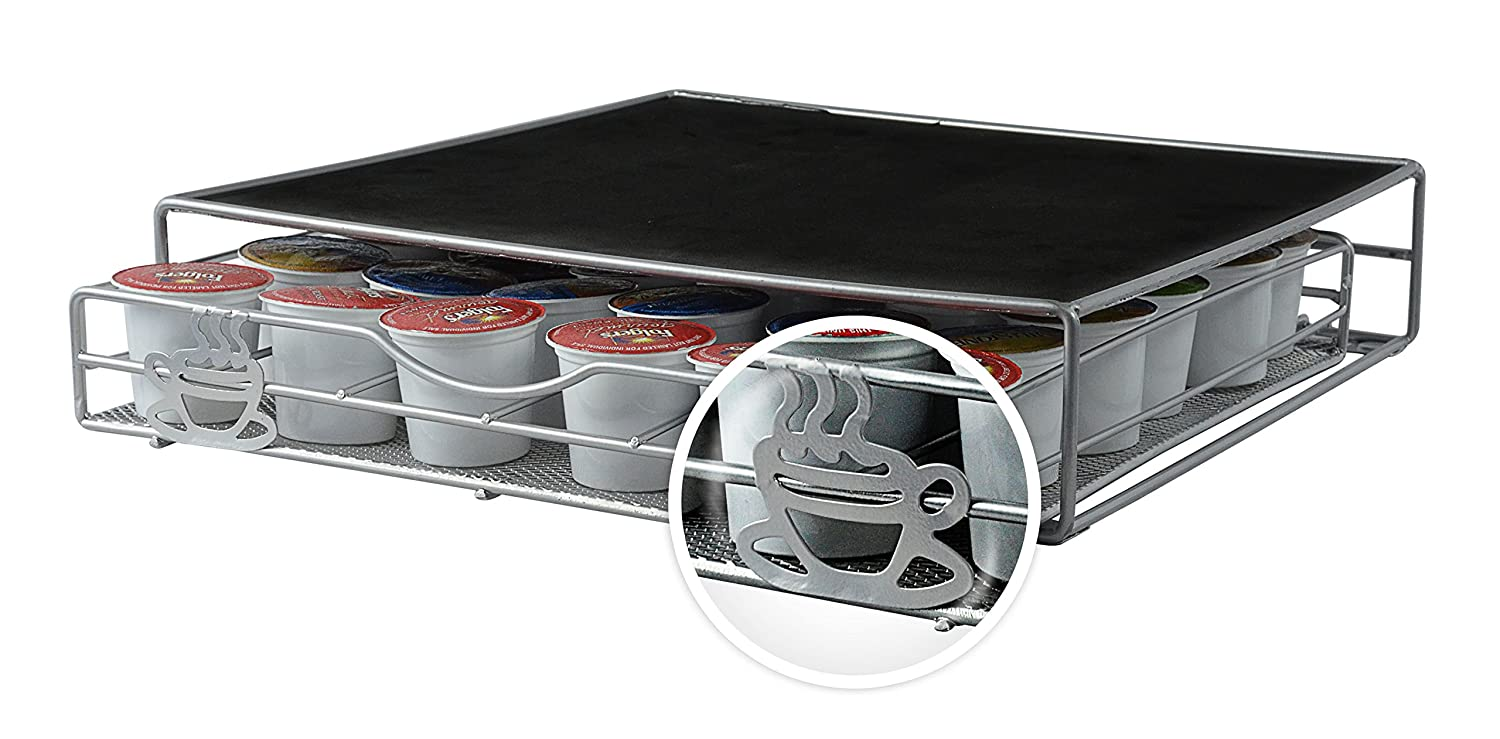 Coffee Pod Holder 36 K-Cups Storage Rack Drawer Organizer ...