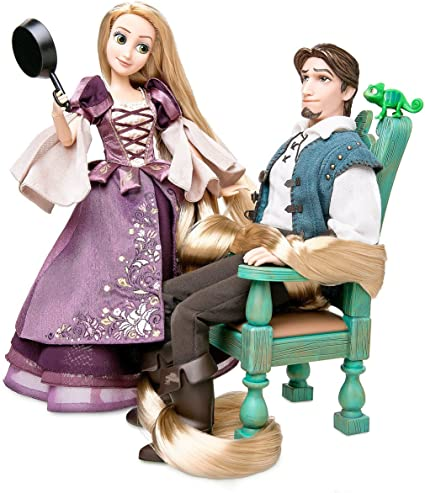 Amazon Com Rapunzel And Flynn Doll Set Deluxe Fairytale Collection Limited Edition Toys Games