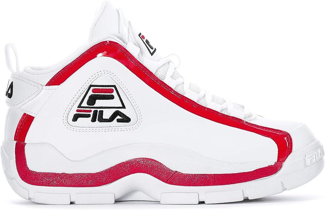 Fila Men's Grant Hill 2 Basketball Shoes (7, WhiteFila Red