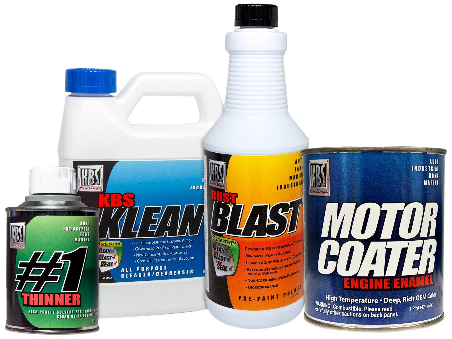 KBS Coatings 58028 Chevy Grey Motor Coater Engine Paint Kit