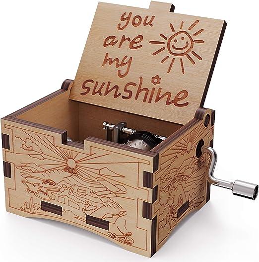Caja musical de madera NNDUO You are My Sunshine con grabado láser ...
