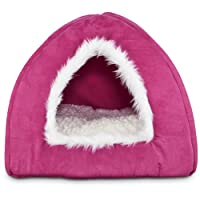 Deals on Harmony Hooded Igloo Cat Bed
