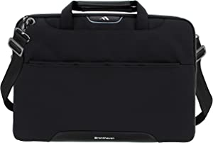 Brenthaven Elliot Carry Case with Strap and Pouch Fits 14 Inch Chromebooks, Laptops, Tablets Bags for Commercial, Business, Office, Black, Durable, Rugged Protection from Impact and Compression
