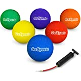 "GoSports Playground Ball (Set of 6) with Carry Bag and Pump (8.5"" or 10"" Sizes)"