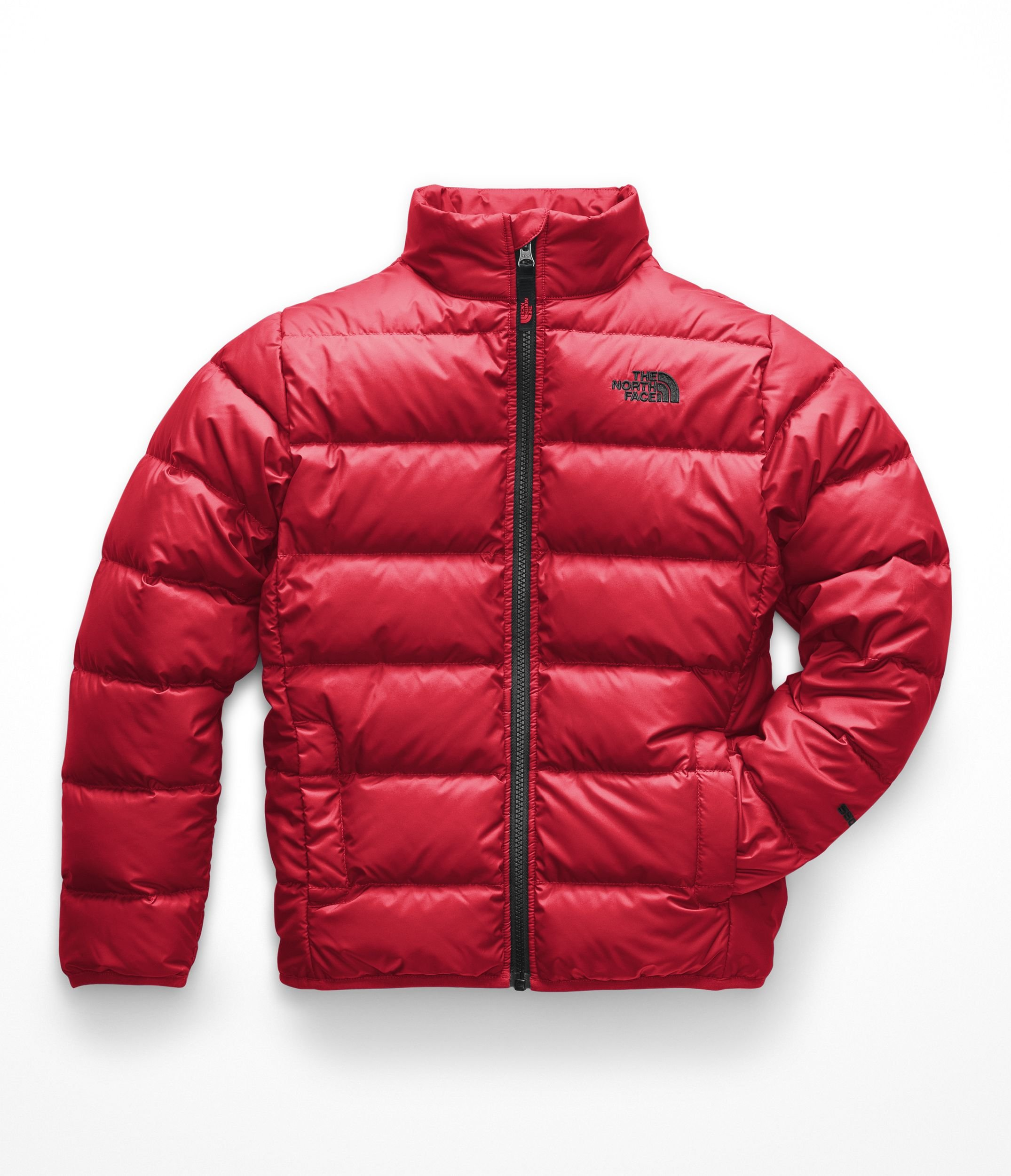 The North Face Boy's Andes Jacket - TNF Red & TNF Black - M by The North Face