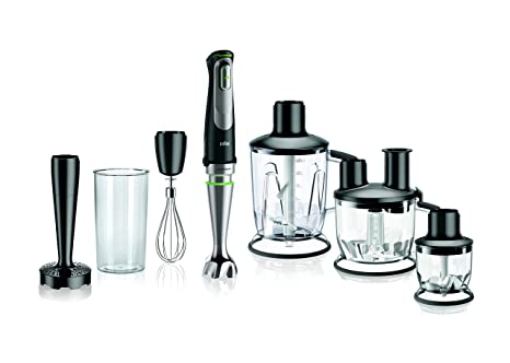Braun MQ9097 Multiquick Hand Blender, 2.7 x 2.7 x 16.1 inches, Black