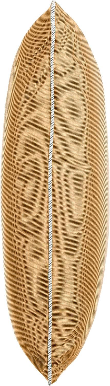 Coj/ín decorativo para jard/ín con ribete tama/ño: 45 x 45 cm 4er-Vorteilspack 100 /% poli/éster Naranja//Terra. hilo te/ñido Brandsseller con cremallera resistente a la suciedad y al agua