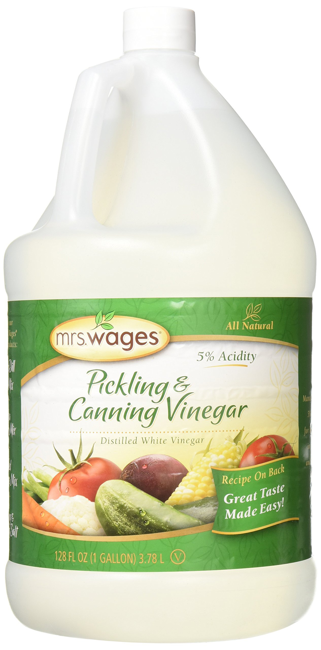 Mrs. Wages Pickling & Canning Vinegar, 128 Ounce